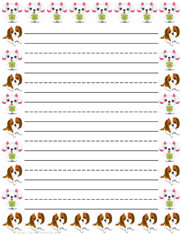 It's just a photo of Zany Printable Lined Paper With Borders