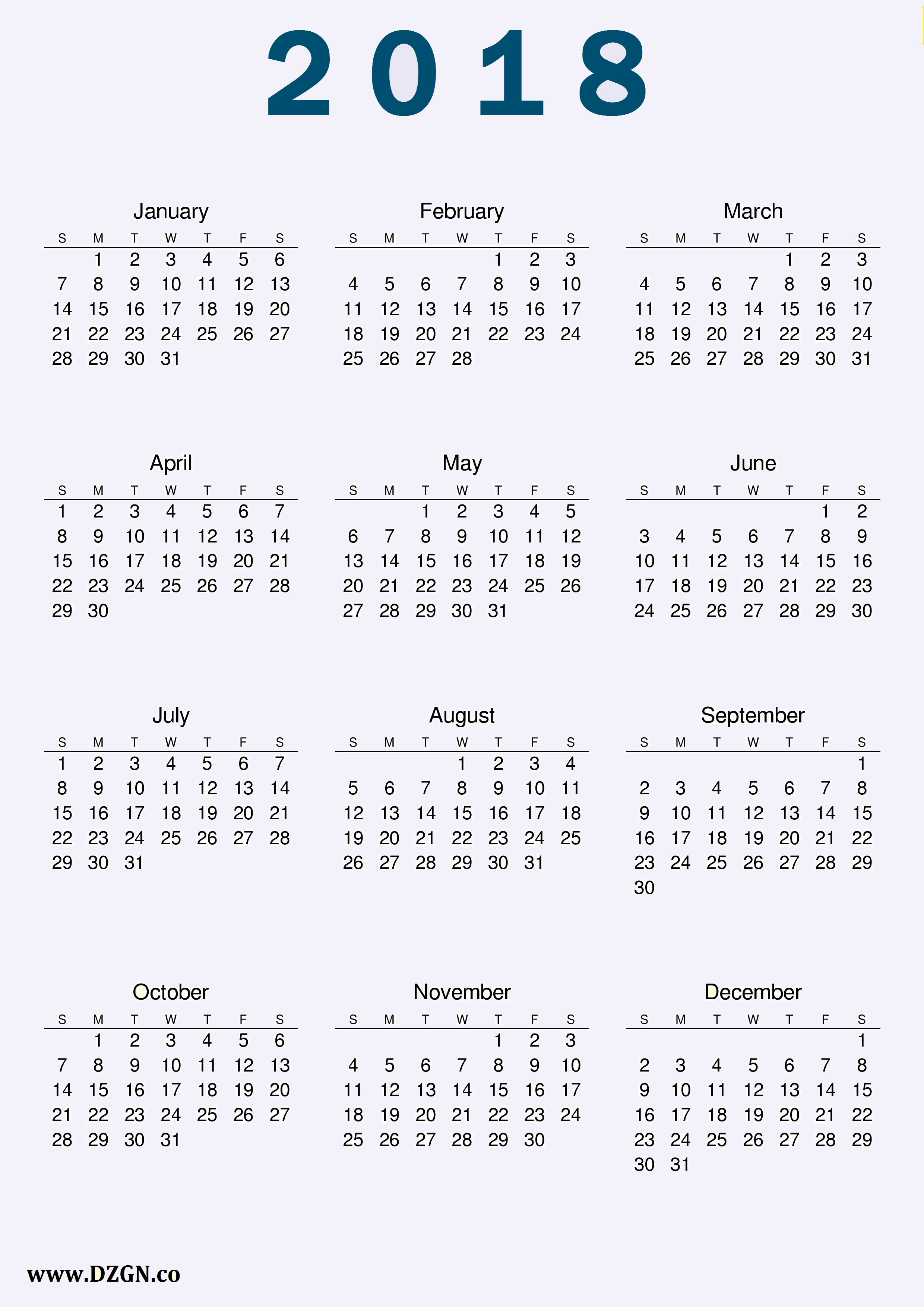 Family Calendar 2018 Printable : Calendar printable calendars posters