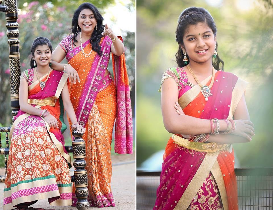 Telugu Serial Actress Sireesha Latest Photos Half Saree – Fondos de