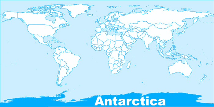 Antarctica in world map Download Free Printable Graphics