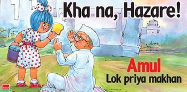 Best amul ads about india against corruption agitation
