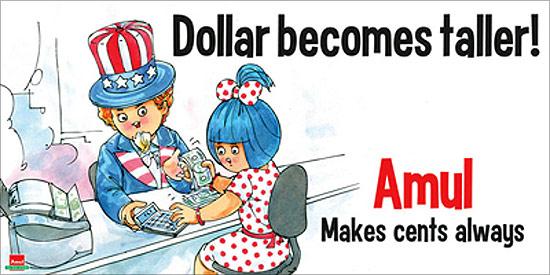 Best amul ads abput dollar currency