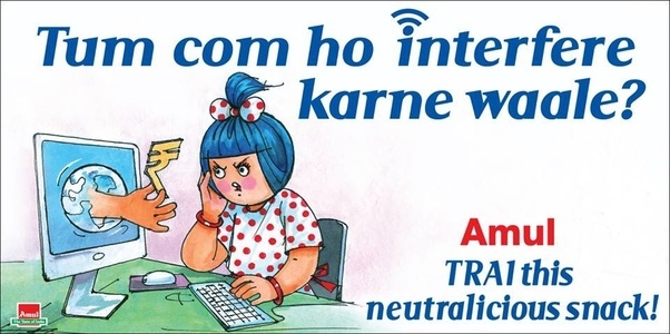 Best amul ads on neutralisation of internet