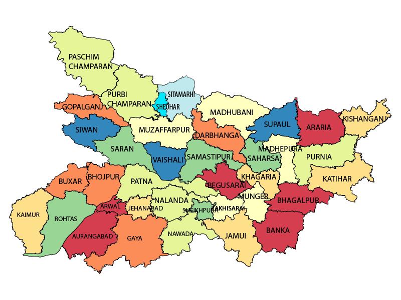 Download Bihar Map image   Download Free Printable Graphics