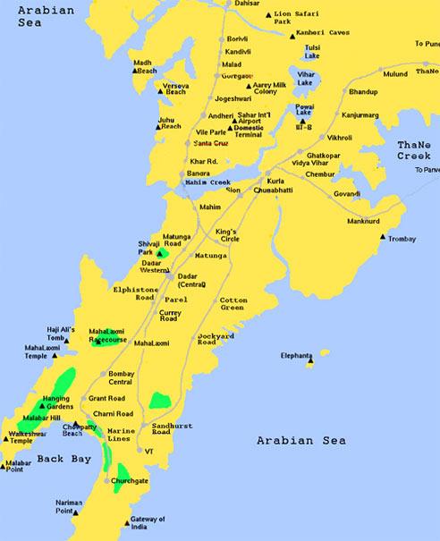 Download Mumbai Map   Download Free Printable Graphics
