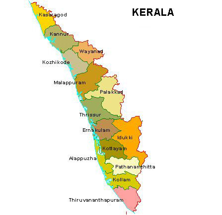 kerala tourist map pdf download