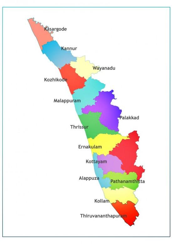 Kerala map image | Download Free Printable Graphics