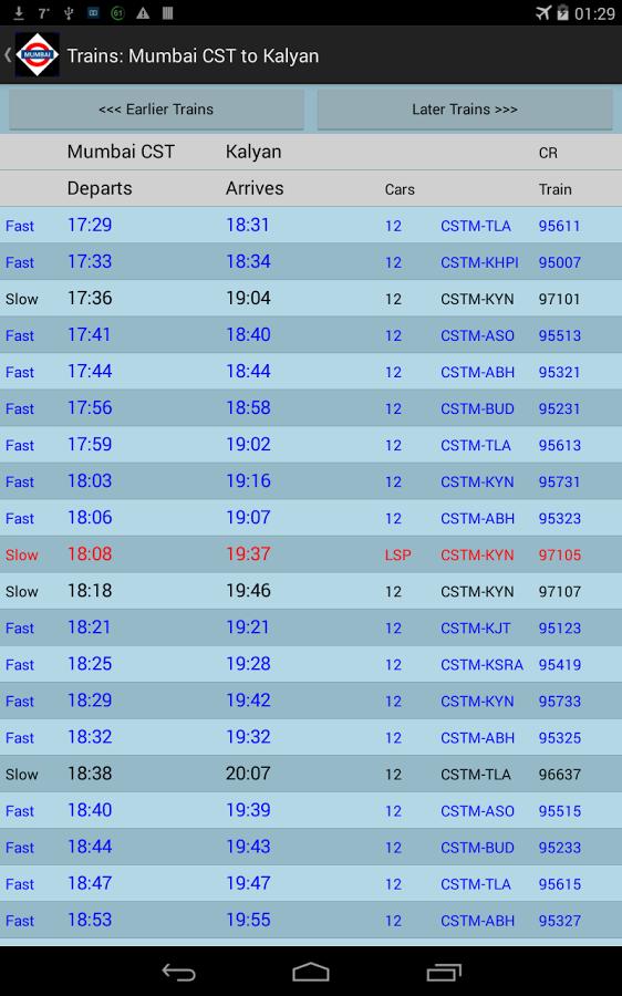 mumbai local train time table download  u2013 2019 printable