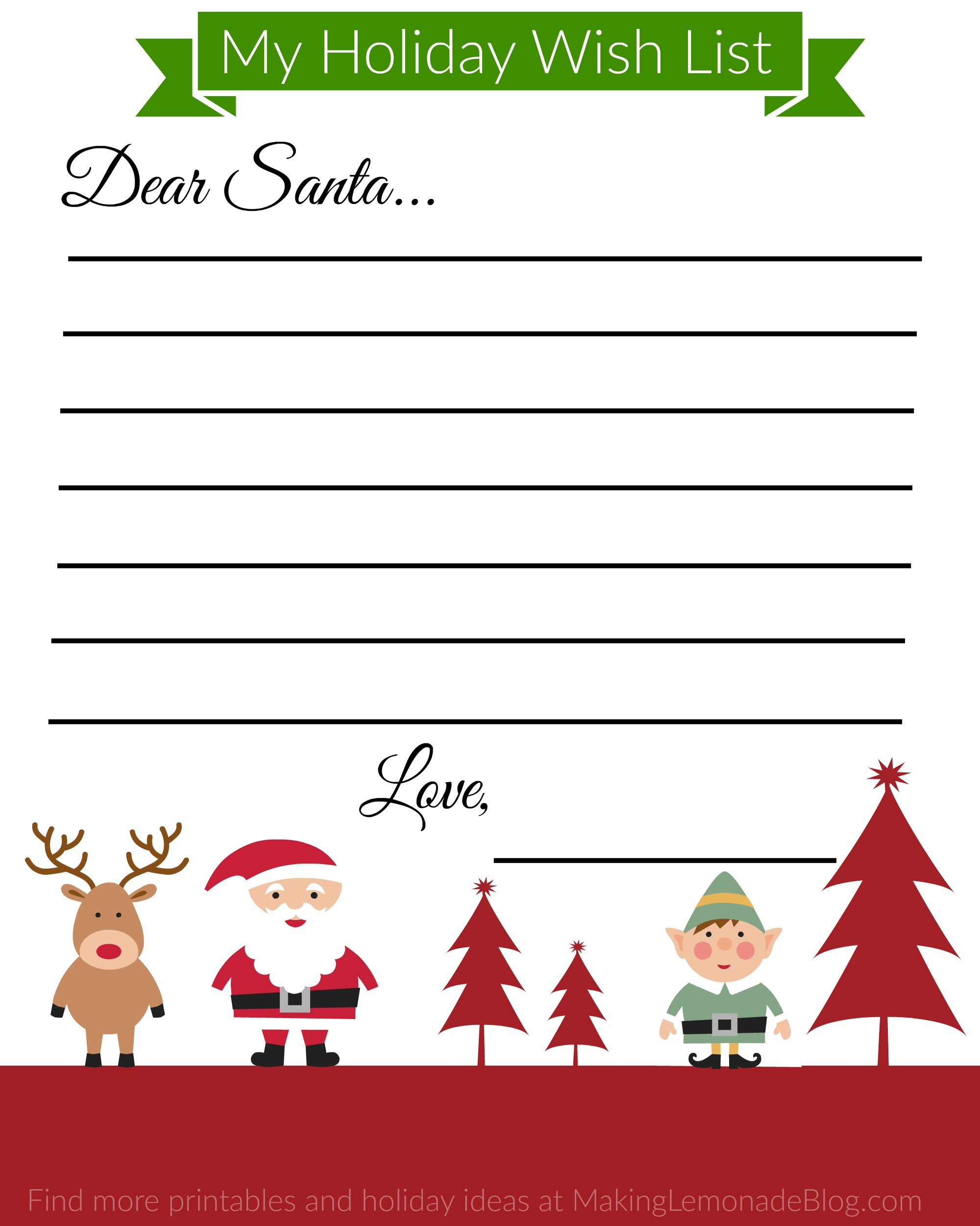 printable christmas wish list 2018 printable calendars