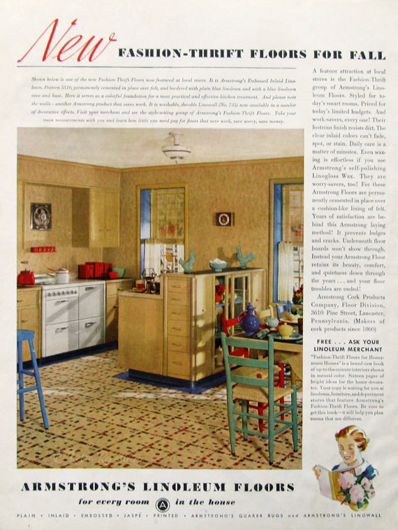 1936 Armstrong Floor Ads