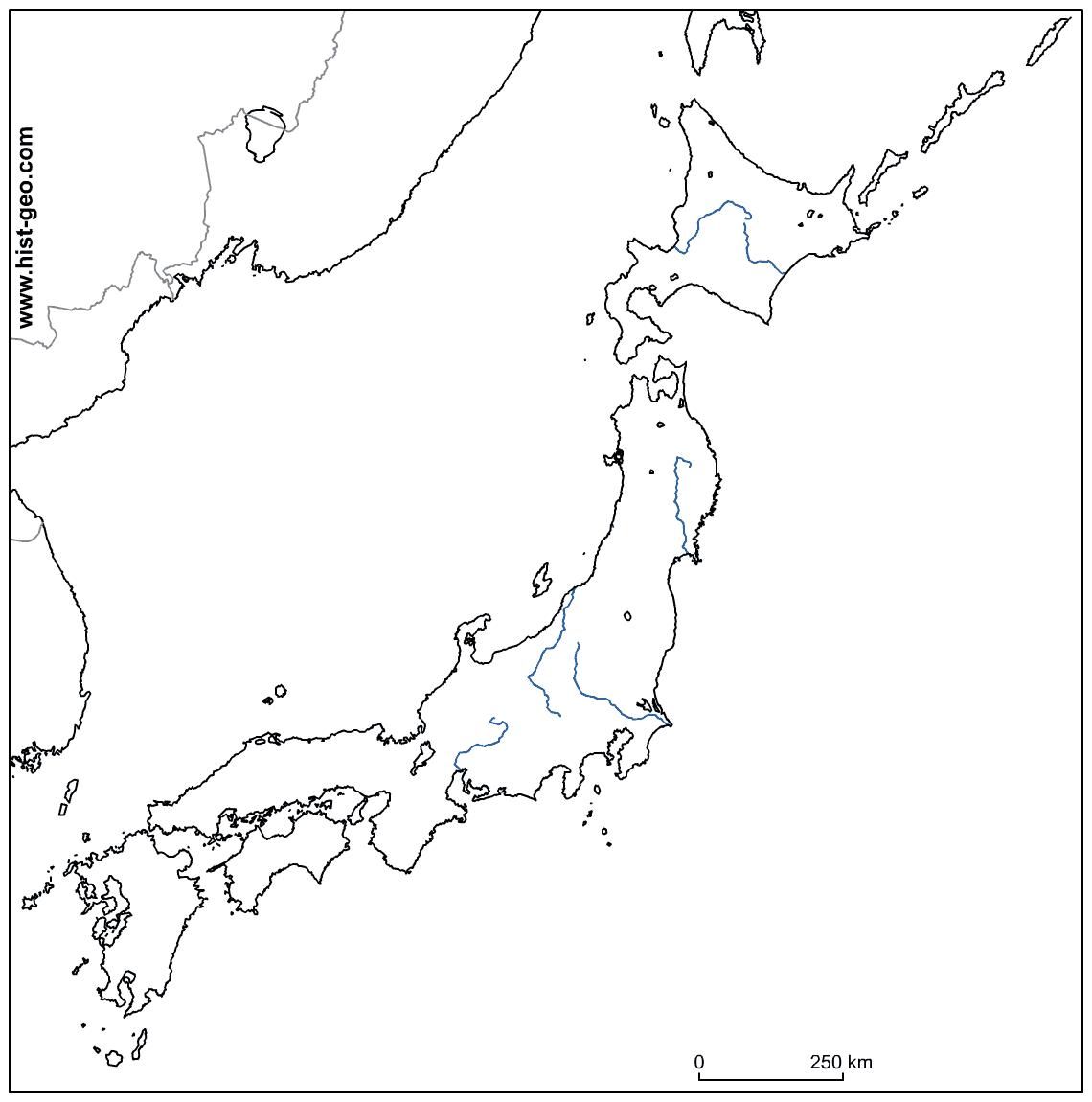 Printable map of Japan | Download Free Printable Graphics