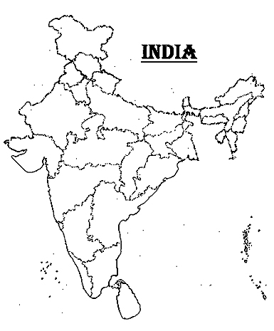 Blank political map of india download free printable graphics blank political map of india without names gumiabroncs Images