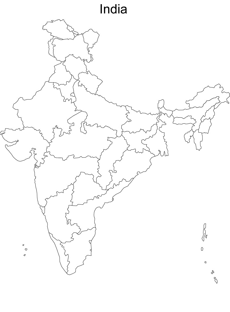 Blank political map of india - 2019 Printable calendar ...