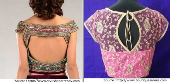 Blouse design back neck photos 2017