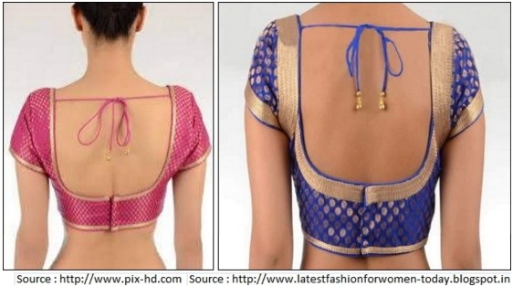 Blouse design back neck photos 2018