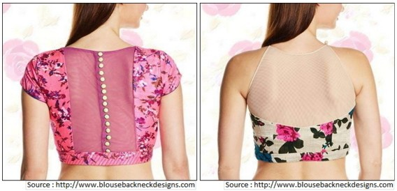 Blouse design back neck photos latest