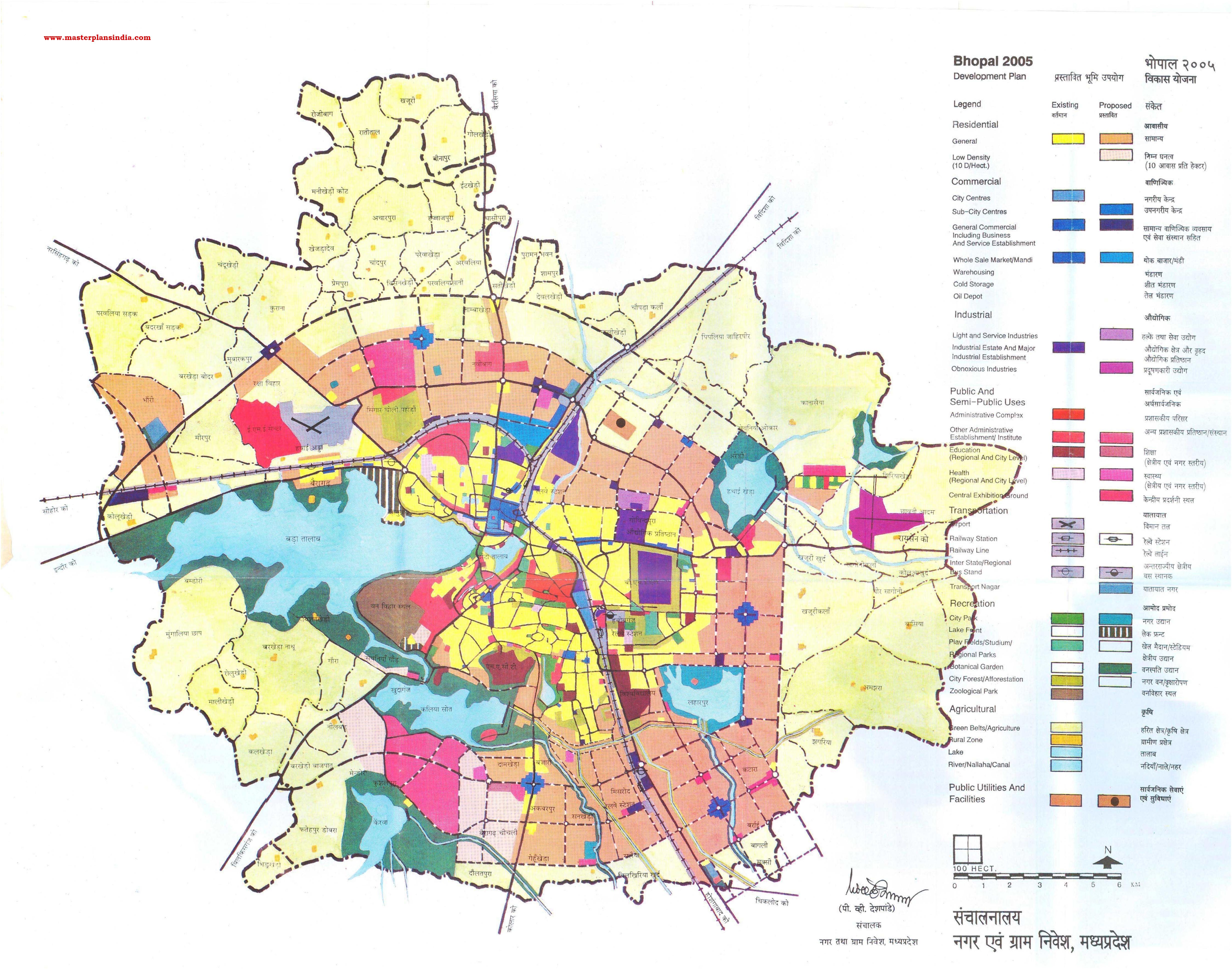 Bhopal master plan 2021 map | Download Free Printable Graphics