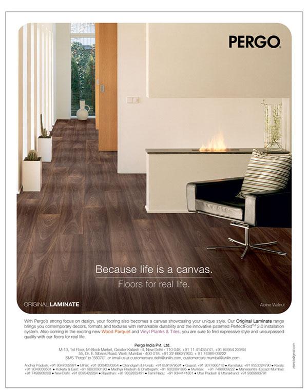 Flooring designs ads Pergo brand