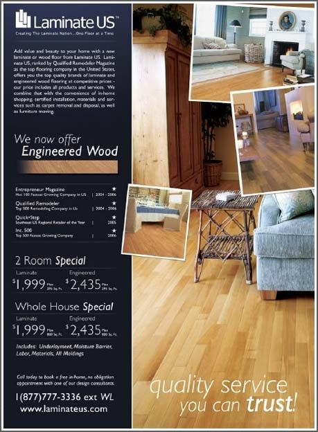 Flooring designs ads sample for magazine ads