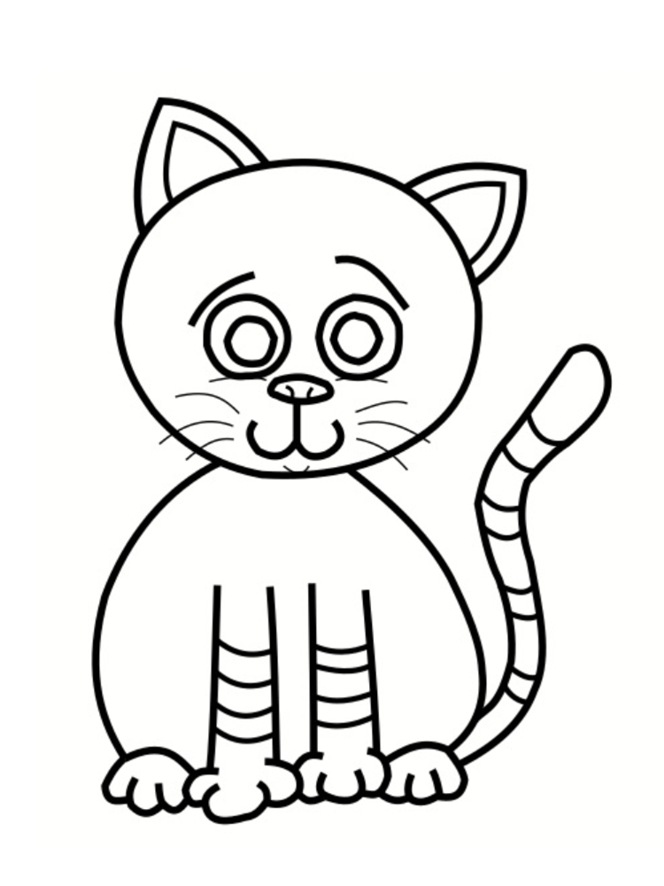 Image de chat a imprimer 2018 printable calendars - Coloriage chat a imprimer ...