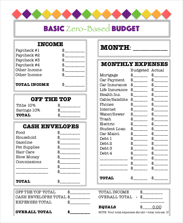 Printable budget worksheet | Download Free Printable Graphics
