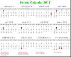 Printable calendar 2018 ireland | Download Free Printable ...