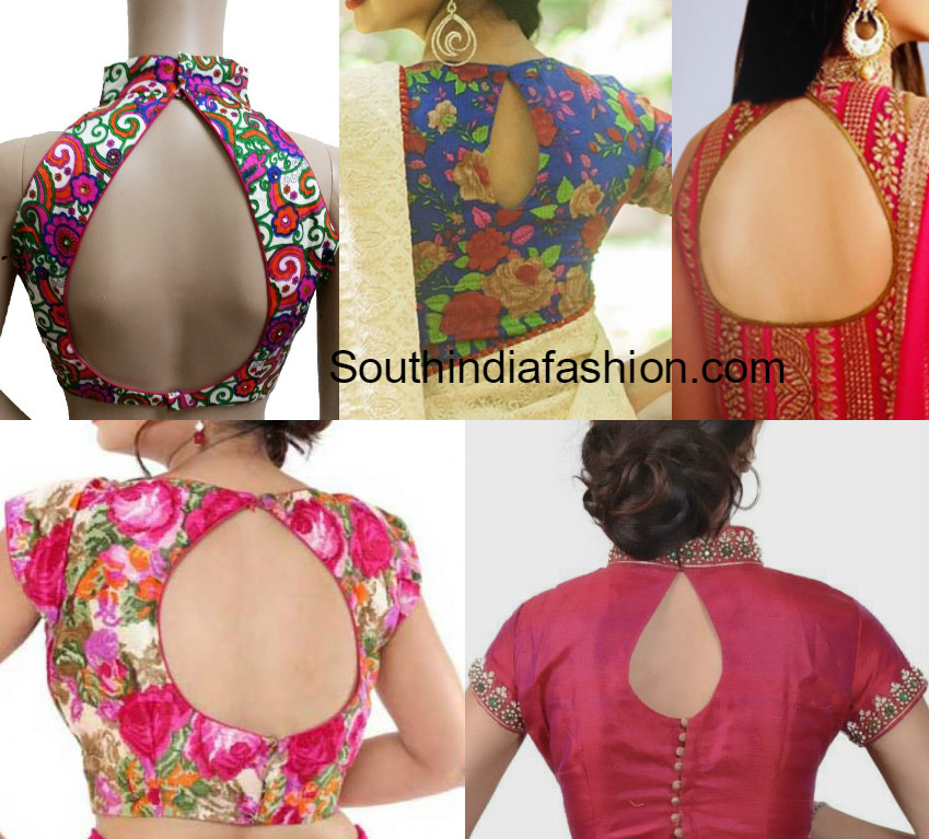 Sexy Blouse design back neck photos