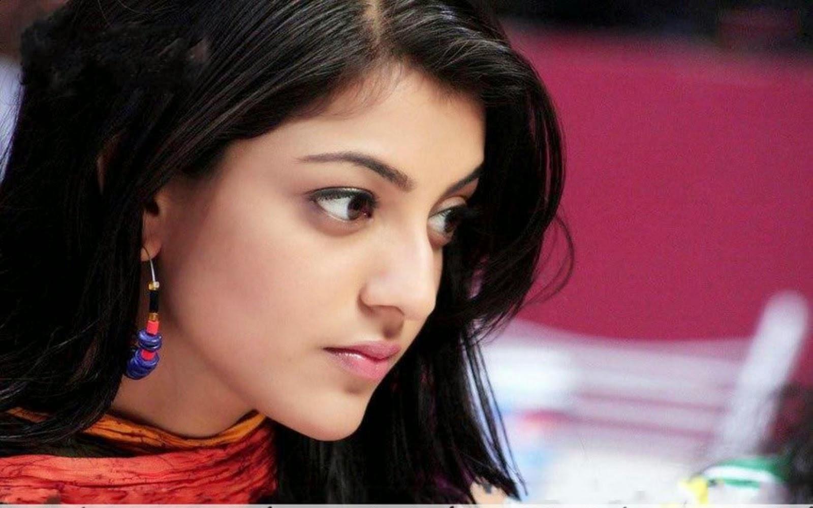South indian actress hd wallpaper 1366x768 Kajal agarwal