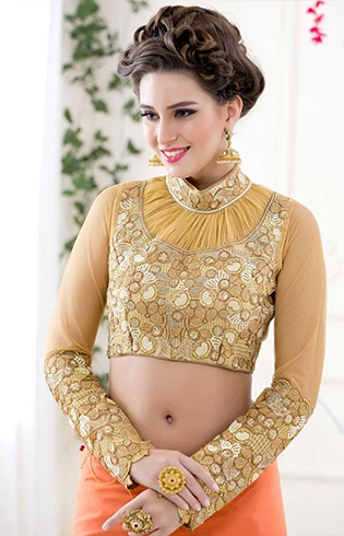 Stylish Blouse designs with collar 2017