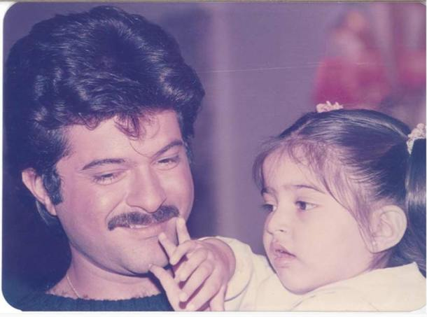 Young anil kapoor photos with daughter
