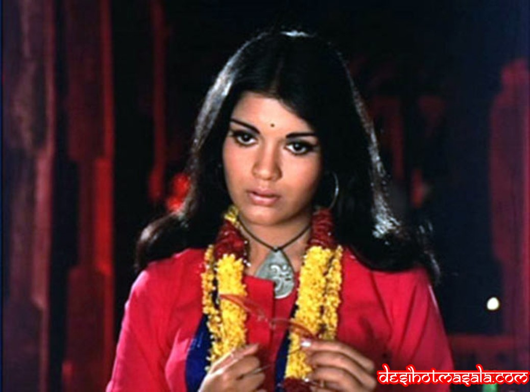 Zeenat aman wallpaper from hare rama hare krishna