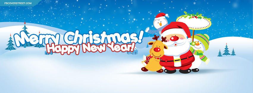 Merry christmas and happy new year FB cover pic
