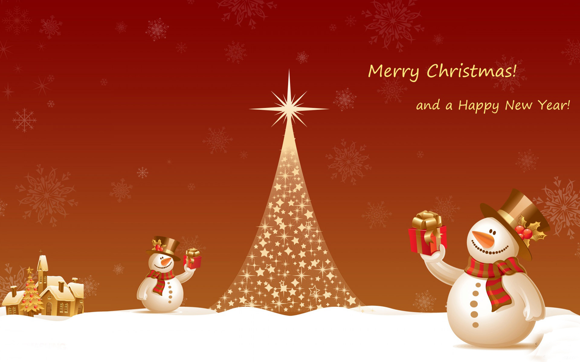 Merry christmas and happy new year wallpaper for download