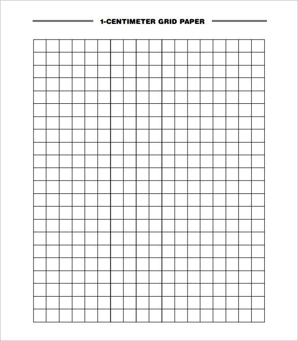 1 centimeter Grid paper printable
