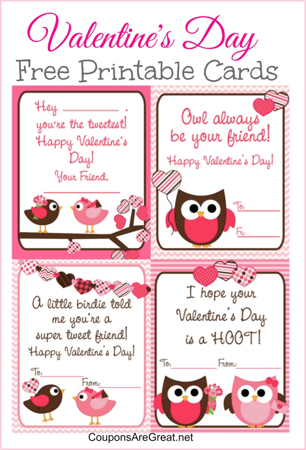 2018 Printable valentine cards greetings