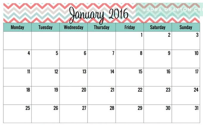 Blank Calendar No Numbers : Best cute printable calendar download free