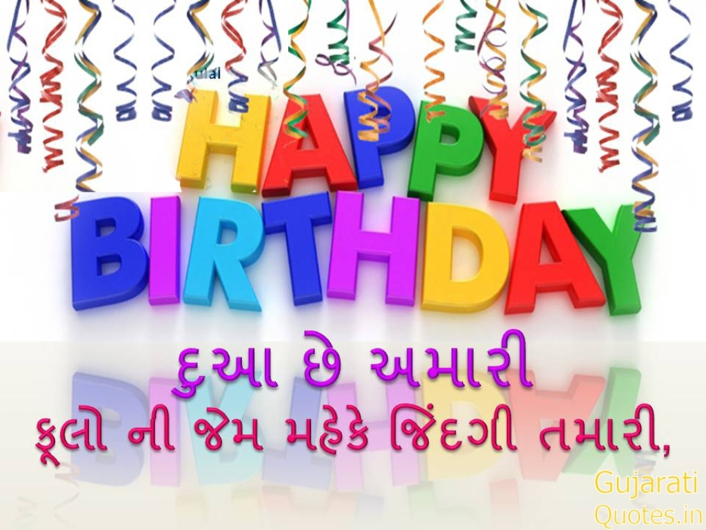 Birthday wishes in gujarati image