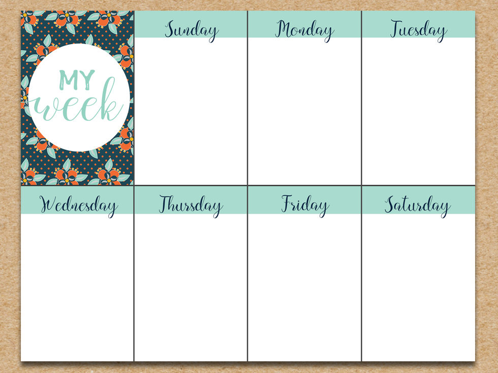 Weekly planner printable download free printable graphics for Online planer