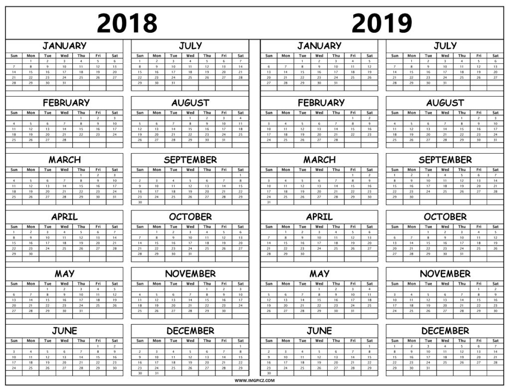 calendar 2018 2019 download free printable graphics