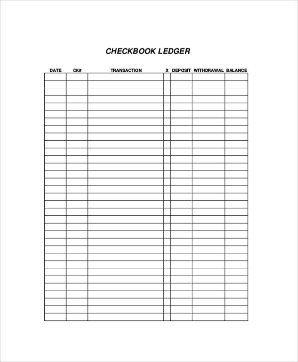 Download printable bank register free