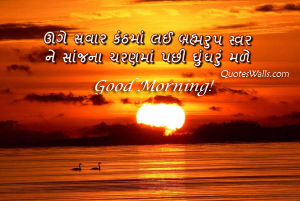 Good morning sms in gujarati images
