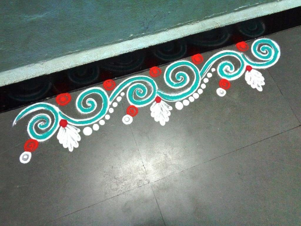 Latest border rangoli designs for doors 2018 download for Door rangoli design images