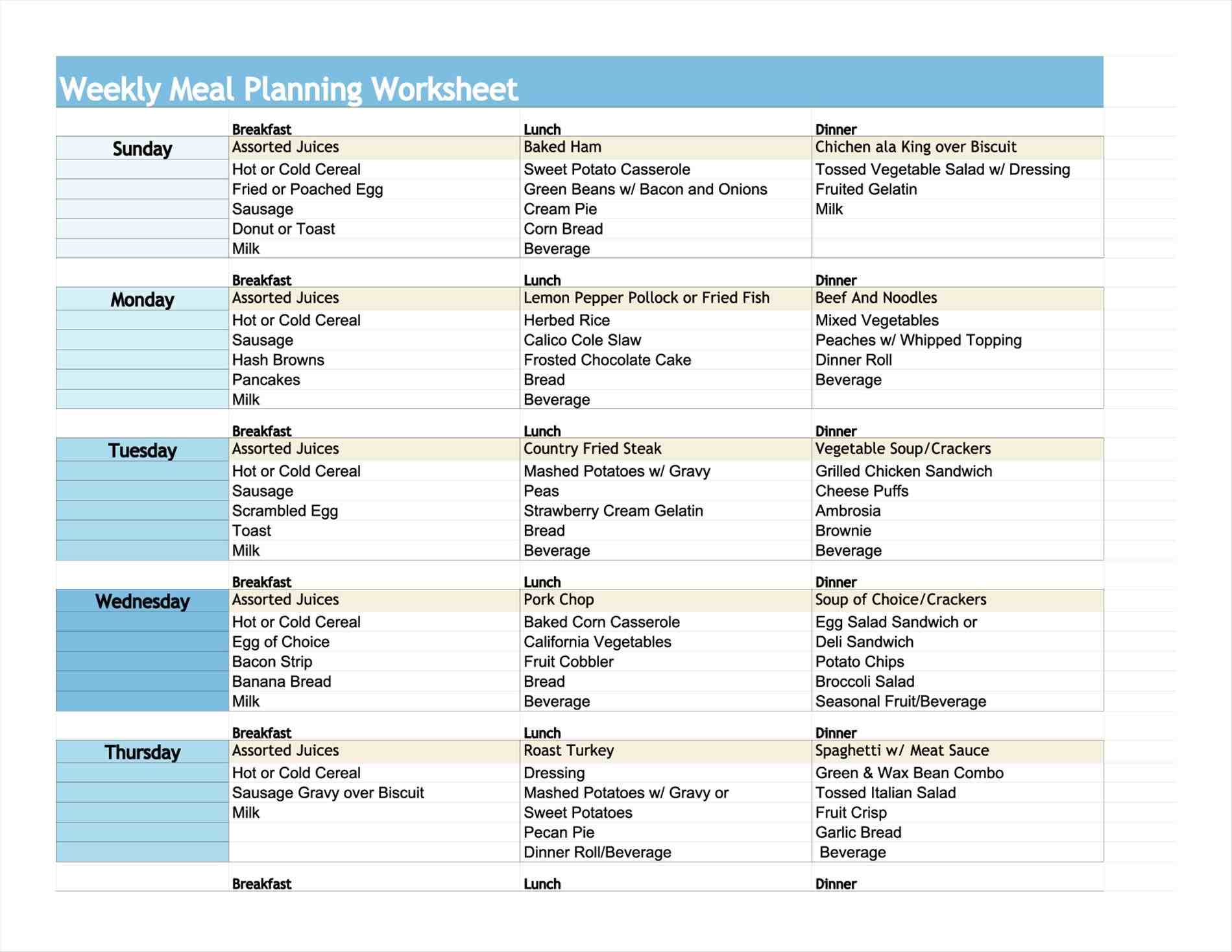 printable diabetic food chart  u2013 2020 printable calendar