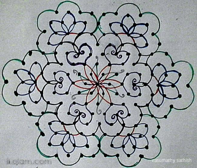 Latest rangoli designs with dots 15 8 step by step guide for Dots design apartment 8
