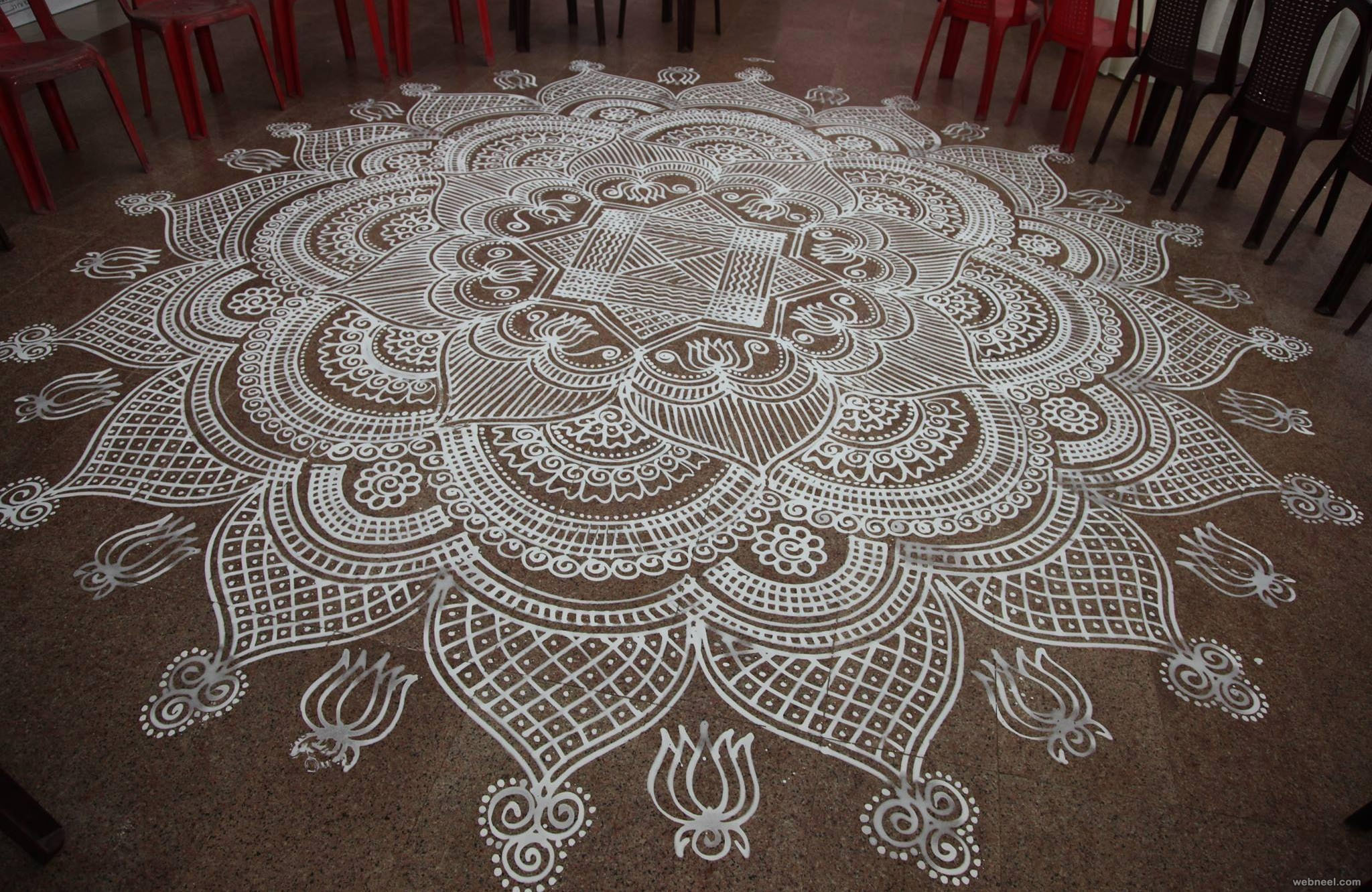 Rangoli Design For New Year