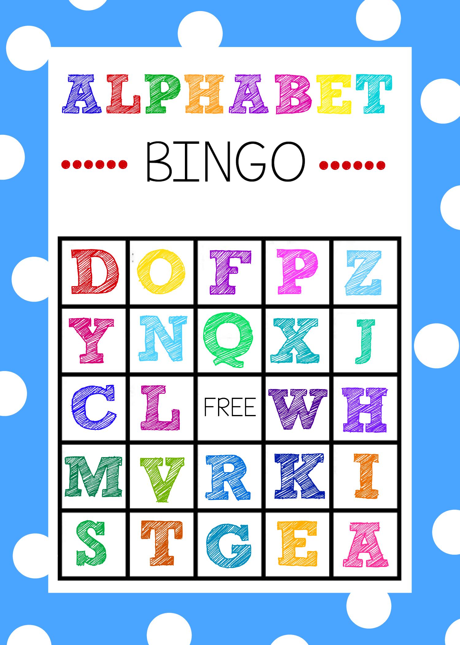 Printable alphabet games bingo