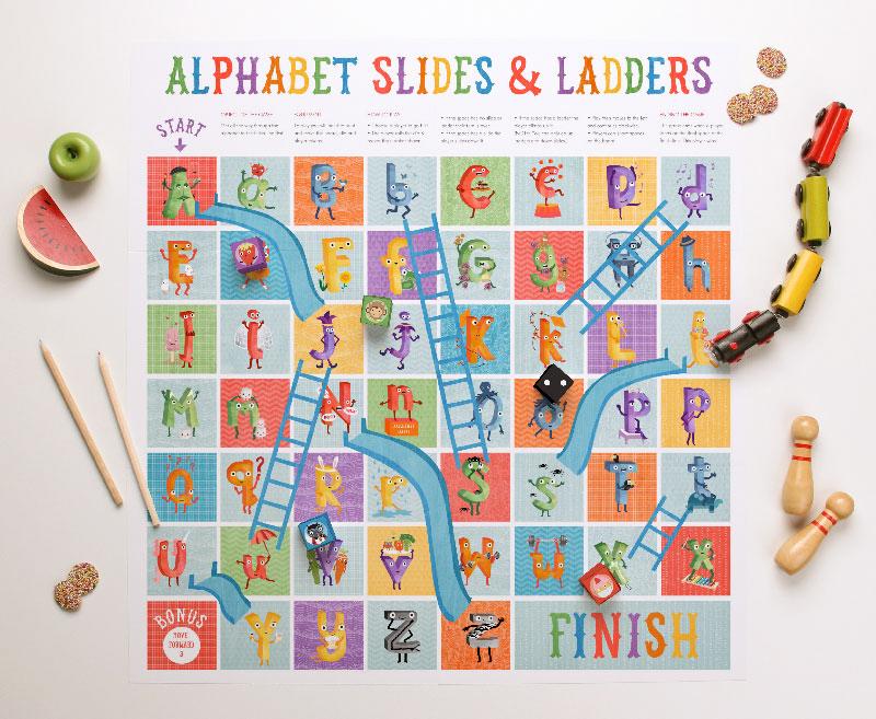 Printable alphabet games board