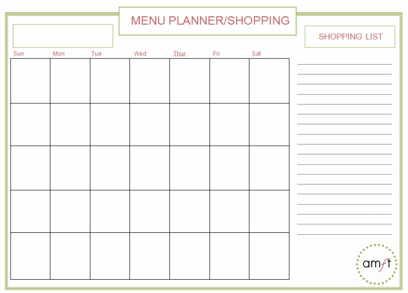 Meal Planner Printable | The Happier Homemaker