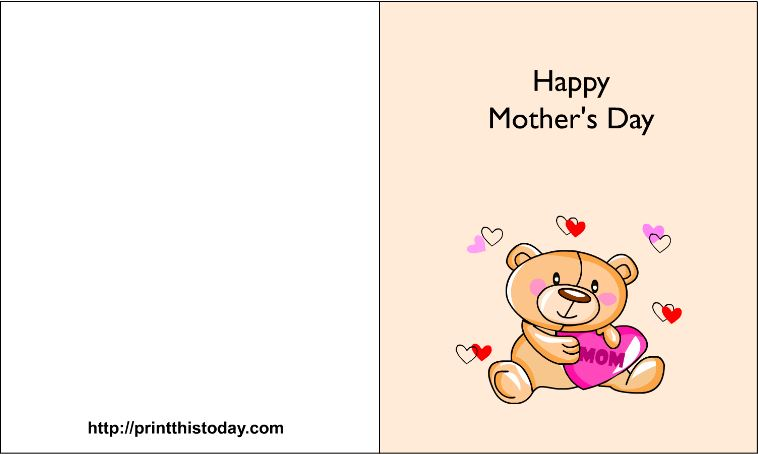 Printable mothers day cards for free 2018
