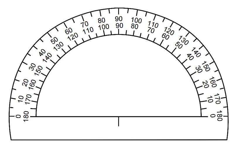 Printable protractor 180 degrees